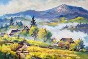 Славське. Ранковий туман. 2012